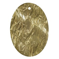 Crumpled Foil Golden Ornament (oval)  by MoreColorsinLife