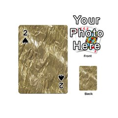 Crumpled Foil Golden Playing Cards 54 (mini)