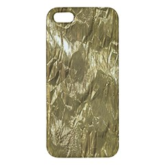 Crumpled Foil Golden Iphone 5s Premium Hardshell Case by MoreColorsinLife