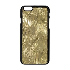 Crumpled Foil Golden Apple Iphone 6/6s Black Enamel Case by MoreColorsinLife