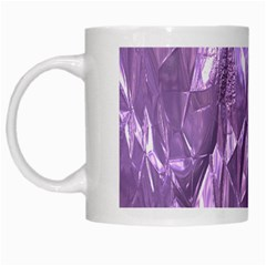 Crumpled Foil Lilac White Mugs by MoreColorsinLife