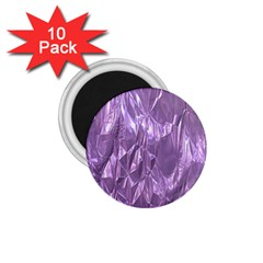 Crumpled Foil Lilac 1 75  Magnets (10 Pack)  by MoreColorsinLife