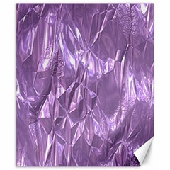 Crumpled Foil Lilac Canvas 8  X 10  by MoreColorsinLife
