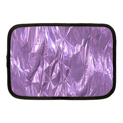 Crumpled Foil Lilac Netbook Case (medium)  by MoreColorsinLife