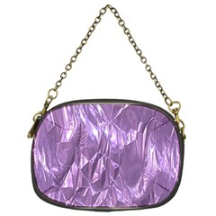 Crumpled Foil Lilac Chain Purses (one Side)  by MoreColorsinLife
