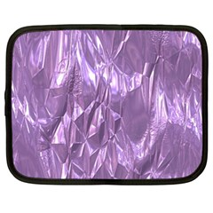 Crumpled Foil Lilac Netbook Case (xxl)  by MoreColorsinLife