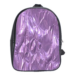 Crumpled Foil Lilac School Bags(large)  by MoreColorsinLife