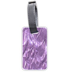 Crumpled Foil Lilac Luggage Tags (two Sides) by MoreColorsinLife