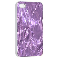 Crumpled Foil Lilac Apple Iphone 4/4s Seamless Case (white)