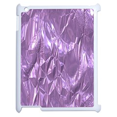 Crumpled Foil Lilac Apple Ipad 2 Case (white) by MoreColorsinLife