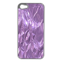 Crumpled Foil Lilac Apple Iphone 5 Case (silver) by MoreColorsinLife