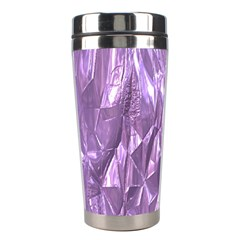 Crumpled Foil Lilac Stainless Steel Travel Tumblers by MoreColorsinLife