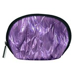 Crumpled Foil Lilac Accessory Pouches (Medium)  Front