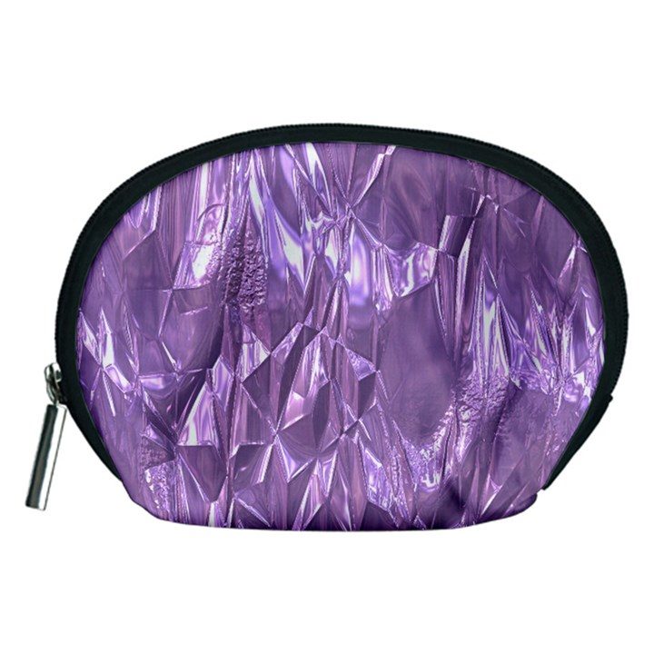 Crumpled Foil Lilac Accessory Pouches (Medium)