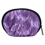 Crumpled Foil Lilac Accessory Pouches (Medium)  Back