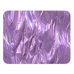 Crumpled Foil Lilac Double Sided Flano Blanket (large)