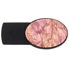 Crumpled Foil Pink Usb Flash Drive Oval (2 Gb)  by MoreColorsinLife