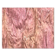 Crumpled Foil Pink Rectangular Jigsaw Puzzl by MoreColorsinLife