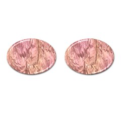 Crumpled Foil Pink Cufflinks (oval) by MoreColorsinLife