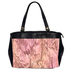 Crumpled Foil Pink Office Handbags (2 Sides)
