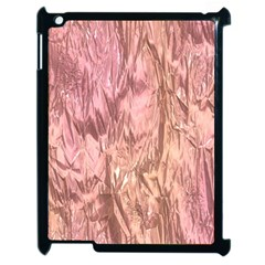 Crumpled Foil Pink Apple Ipad 2 Case (black) by MoreColorsinLife