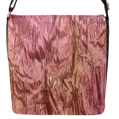 Crumpled Foil Pink Flap Messenger Bag (s) by MoreColorsinLife
