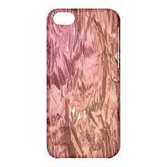 Crumpled Foil Pink Apple Iphone 5c Hardshell Case by MoreColorsinLife