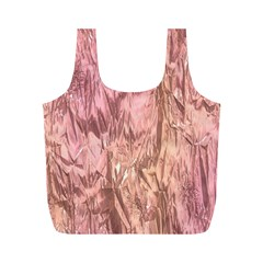Crumpled Foil Pink Full Print Recycle Bags (m)  by MoreColorsinLife