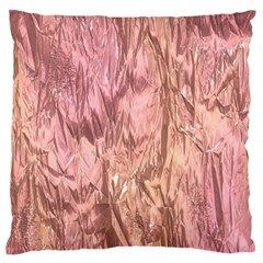 Crumpled Foil Pink Standard Flano Cushion Cases (one Side)