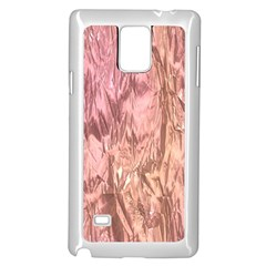 Crumpled Foil Pink Samsung Galaxy Note 4 Case (white)