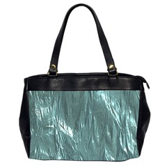 Crumpled Foil Teal Office Handbags (2 Sides)  by MoreColorsinLife