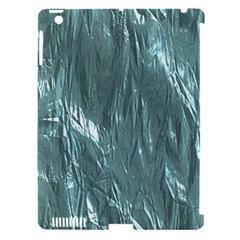 Crumpled Foil Teal Apple Ipad 3/4 Hardshell Case (compatible With Smart Cover) by MoreColorsinLife