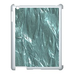 Crumpled Foil Teal Apple Ipad 3/4 Case (white) by MoreColorsinLife