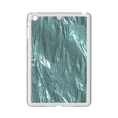 Crumpled Foil Teal Ipad Mini 2 Enamel Coated Cases by MoreColorsinLife