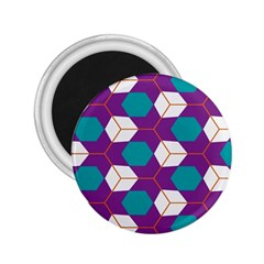 Cubes In Honeycomb Pattern 2 25  Magnet by LalyLauraFLM