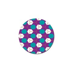 Cubes In Honeycomb Pattern Golf Ball Marker (10 Pack)