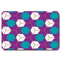 Cubes In Honeycomb Pattern Large Doormat by LalyLauraFLM