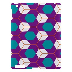 Cubes In Honeycomb Pattern Apple Ipad 3/4 Hardshell Case by LalyLauraFLM