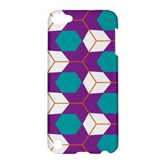 Cubes In Honeycomb Pattern Apple Ipod Touch 5 Hardshell Case by LalyLauraFLM