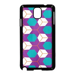 Cubes In Honeycomb Pattern Samsung Galaxy Note 3 Neo Hardshell Case by LalyLauraFLM