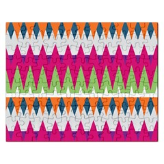 Chevron Pattern Jigsaw Puzzle (rectangular) by LalyLauraFLM