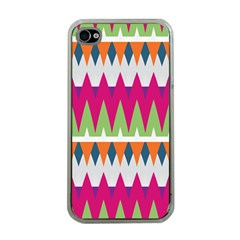 Chevron Pattern Apple Iphone 4 Case (clear) by LalyLauraFLM