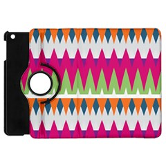 Chevron Pattern Apple Ipad Mini Flip 360 Case by LalyLauraFLM