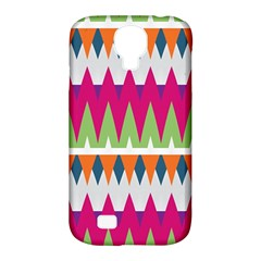 Chevron Pattern Samsung Galaxy S4 Classic Hardshell Case (pc+silicone) by LalyLauraFLM