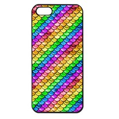 Rainbow Scales Apple Iphone 5 Seamless Case (black)