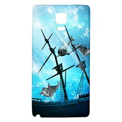 Awesome Ship Wreck With Dolphin And Light Effects Galaxy Note 4 Back Case by FantasyWorld7