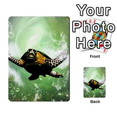 Wonderful Sea Turtle With Bubbles Multi Purpose Cards (rectangle)