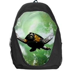 Wonderful Sea Turtle With Bubbles Backpack Bag by FantasyWorld7