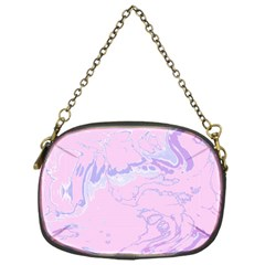Unique Marbled 2 Baby Pink Chain Purses (one Side)  by MoreColorsinLife