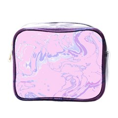 Unique Marbled 2 Baby Pink Mini Toiletries Bags by MoreColorsinLife